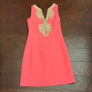 Pink and gold Lilly Pulitzer dress